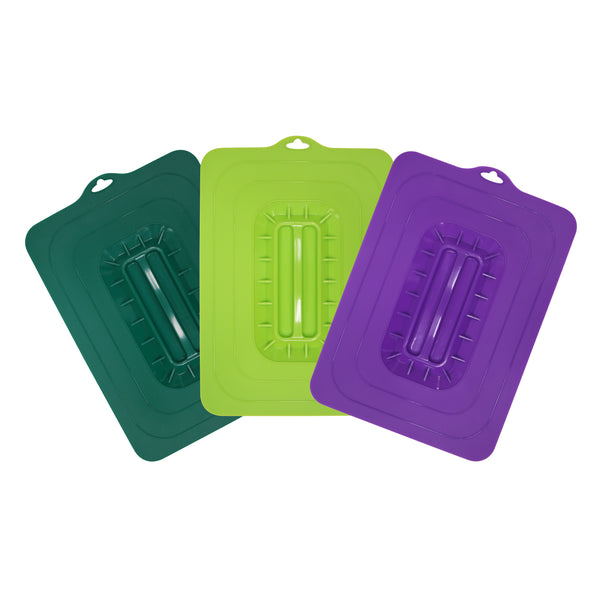 Set Of 3 Silicone Suction Lids