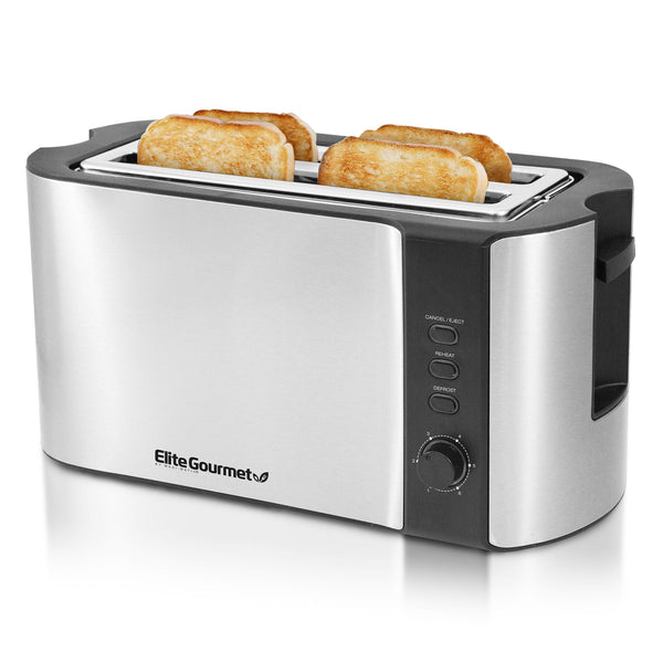 4 Slice Stainless Steel Long Toaster