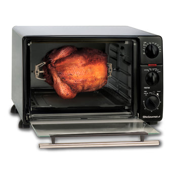 23l 6-slice Toaster Oven Broiler W Rotisserie