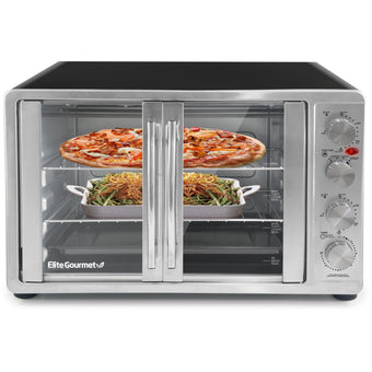 45L French Door Toaster Oven Rotisseri