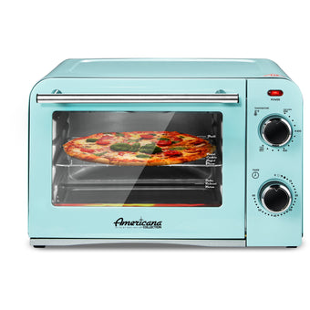 4 Slice Retro Countertop Toaster Oven