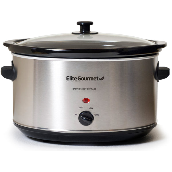 Deluxe Sized 8.5 Qt. Stainless Steel Slow Cooker