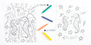 Together A Mommy & Me Coloring book