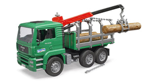 Timber Truck with Loading Crane and Trunks by Bruder