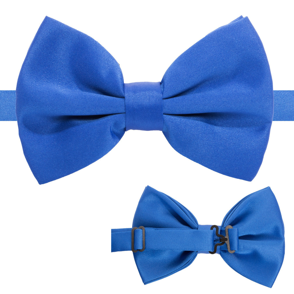 Axis Royal Blue Adjustable Satin Bowtie - Ferrecci USA