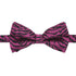 Zimba Purple Black Zebra Bow Tie - Ferrecci USA
