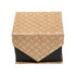 Men's Brown Geometric Design 4-pc Necktie Box Set - Ferrecci USA