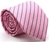 Mens Dads Classic Pink Striped Pattern Business Casual Necktie & Hanky Set C-10 - Ferrecci USA