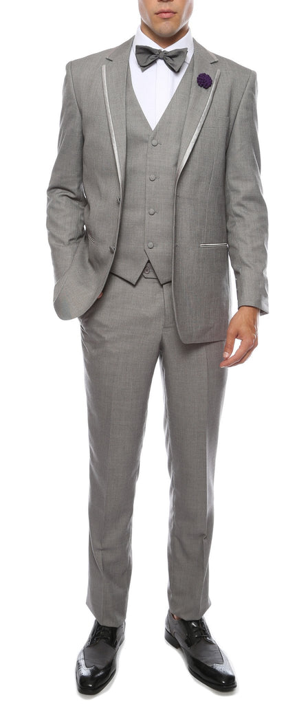 Celio Grey Slim Fit 3pc Tuxedo - Ferrecci USA