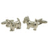 Silvertone Novelty Pitbull Cufflinks with Jewelry Box - Ferrecci USA