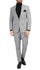Conrad Skinny Slim Fit Grey 2pc Glen Plaid Peak Lapel Suit - Ferrecci USA