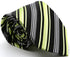 Mens Dads Classic Black Green Striped Pattern Business Casual Necktie & Hanky Set D-2 - Ferrecci USA