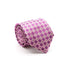 Mens Dads Classic Fuchsia Geometric Pattern Business Casual Necktie & Hanky Set E-5 - Ferrecci USA