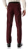 Ferrecci Men's Halo Burgundy Slim Fit Flat-Front Dress Pants - Ferrecci USA