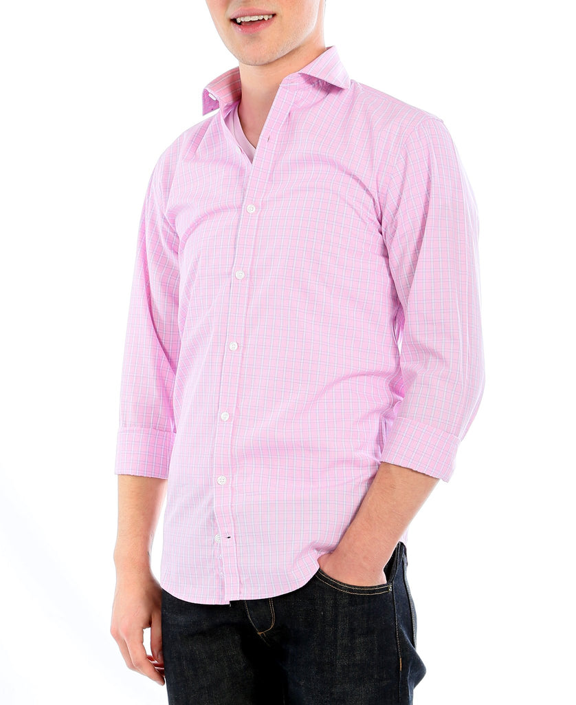 The Henley Slim Fit Cotton Dress Shirt - Ferrecci USA