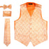 Ferrecci Mens PV50-8 Orange Vest Set - Ferrecci USA