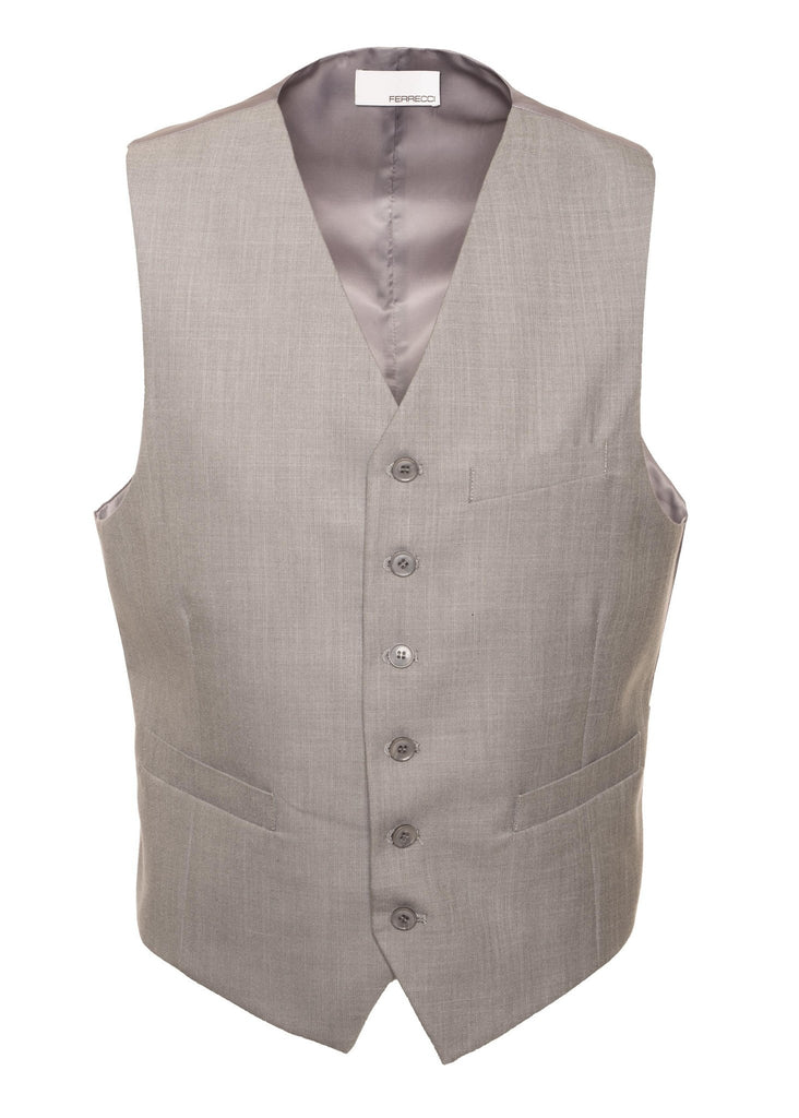 Solo Adjustable Casual & Formal Light Grey Vest - Ferrecci USA