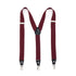 Burgundy Clip-On Unisex Suspenders - Ferrecci USA