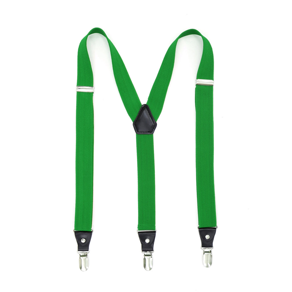 Green Clip-On Unisex Suspenders - Ferrecci USA