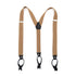 Light Brown Button-End Unisex Suspenders - Ferrecci USA