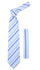 Microfiber Sky Blue Grey Striped Tie and Hankie Set - Ferrecci USA