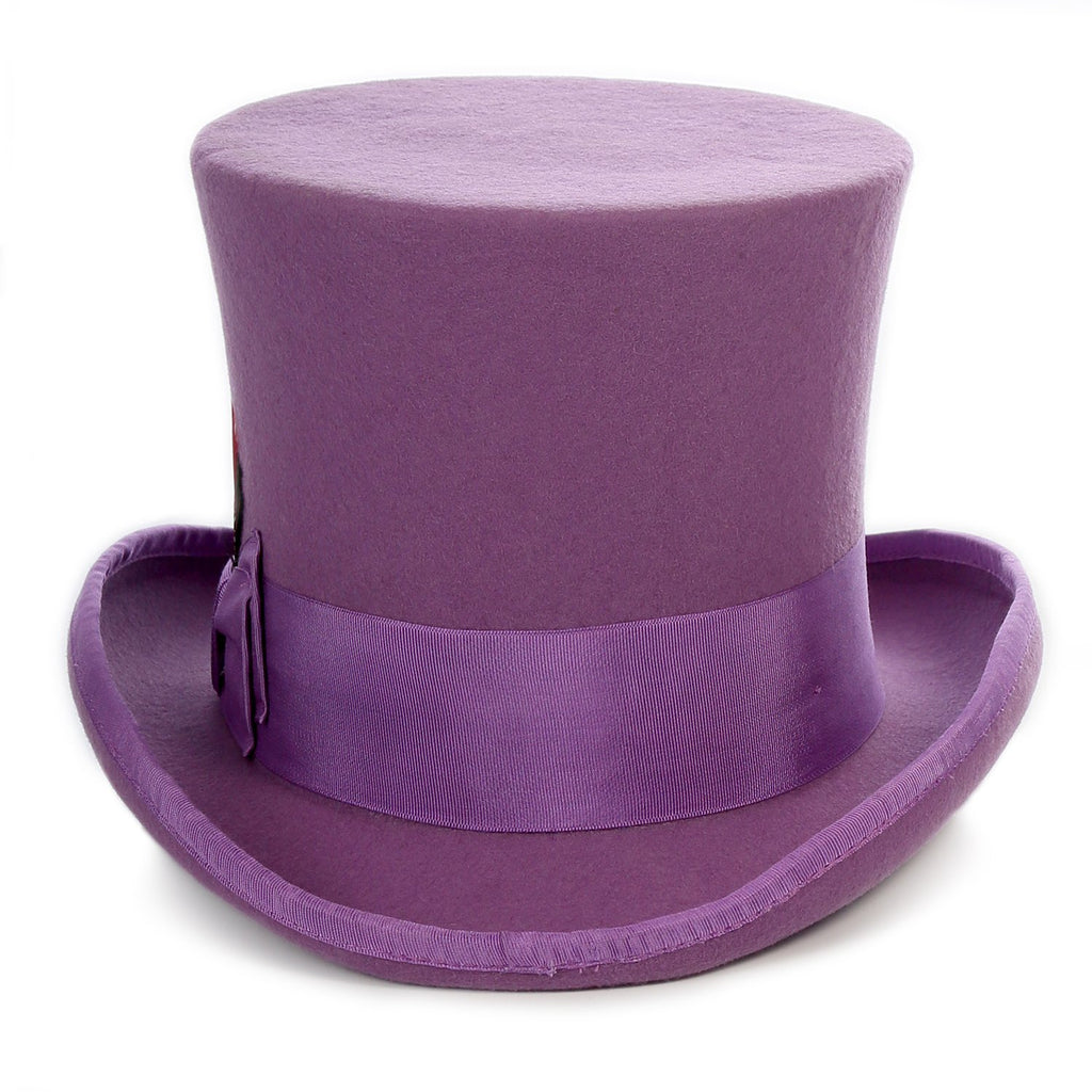 Premium Wool Purple Top Hat - Ferrecci USA