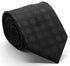 Mens Dads Classic Black Geometric Pattern Business Casual Necktie & Hanky Set W-8 - Ferrecci USA
