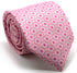 Mens Dads Classic Pink Geometric Pattern Business Casual Necktie & Hanky Set Y-5 - Ferrecci USA