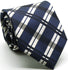 Mens Dads Classic Navy Stripe Pattern Business Casual Necktie & Hanky Set Z-3 - Ferrecci USA