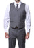 Zillo Charcoal 3pc Vested Slim Fit Plaid Suit - Ferrecci USA