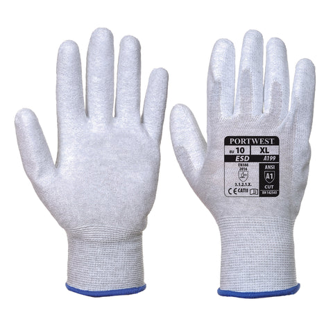 Antistatic PU Palm Glove- A199