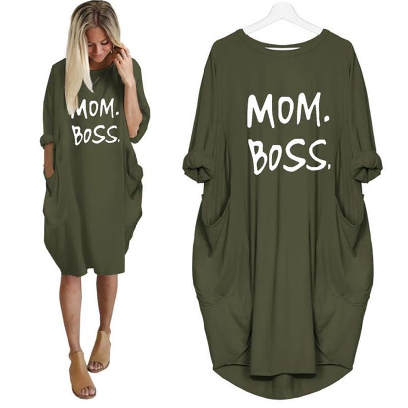 Megan™ - Mom Boss Dress - Green