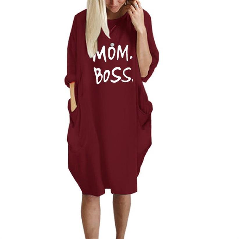 Megan™ - Mom Boss Dress - Red