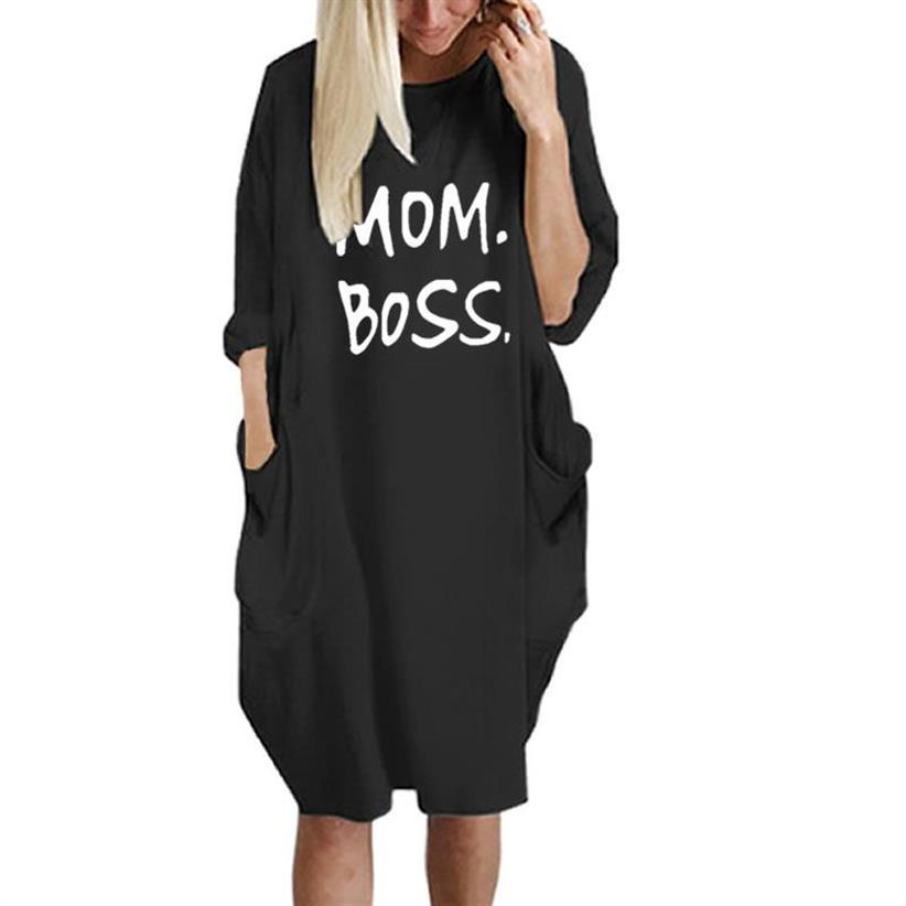 Megan™ - Mom Boss Dress - Black