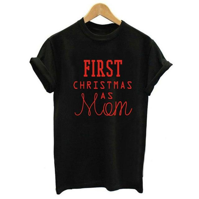 First Christmas As Mom - Black