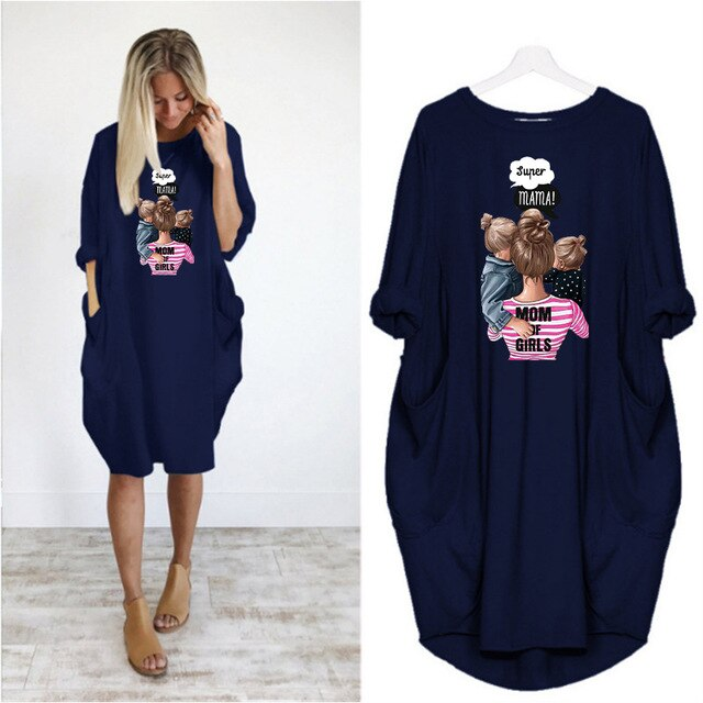 Sophia™ - Mom Of Girls Dress - Navy