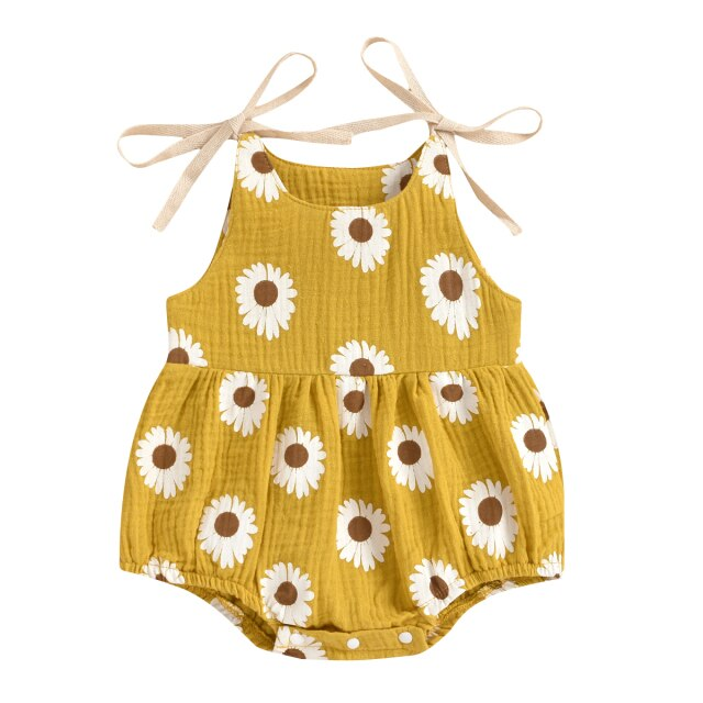 Kamilah Basic Romper - Yellow