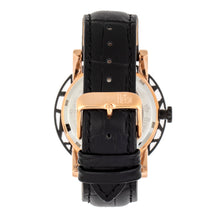Load image into Gallery viewer, Reign Stavros Automatic Skeleton Leather-Band Watch - Rose Gold/Black - REIRN3706