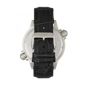 Reign Thanos Automatic Leather-Band Watch - Silver/Black - REIRN2101
