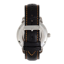 Load image into Gallery viewer, Reign Rudolf Automatic Skeleton Leather-Band Watch - Silver/Orange - REIRN5902