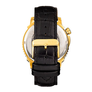 Reign Bauer Automatic Semi-Skeleton Leather-Band Watch - Gold/Black - REIRN6004