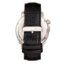 Load image into Gallery viewer, Reign Bauer Automatic Semi-Skeleton Leather-Band Watch - Silver/White - REIRN6001