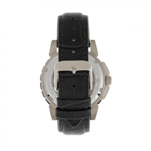 Reign Philippe Automatic Skeleton Leather-Band Watch - Black/Silver - REIRN4604