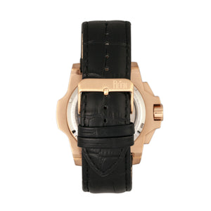 Reign Commodus Automatic Skeleton Leather-Band Watch - Rose Gold/Black - REIRN4005