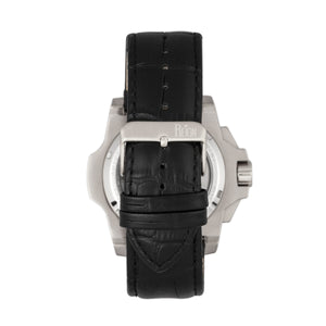 Reign Commodus Automatic Skeleton Leather-Band Watch - Silver/Black - REIRN4002