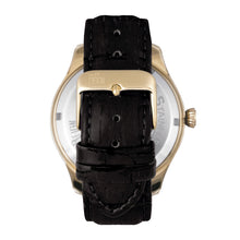 Load image into Gallery viewer, Reign Gustaf Automatic Leather-Band Watch - Black/Gold - REIRN1503