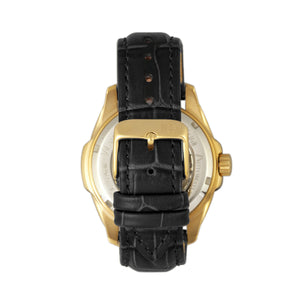 Reign Henley Automatic Semi-Skeleton Leather-Band Watch - Gold/Black - REIRN4505