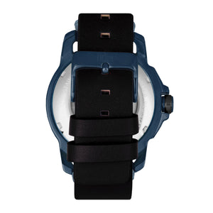 Reign Monarch Automatic Domed Leather-Band Watch - Blue/Black - REIRN5206