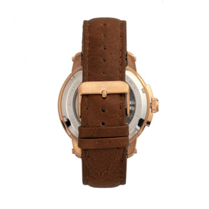 Reign Matheson Automatic Skeleton Dial Leather-Band Watch - Brown/Rose Gold - REIRN5305