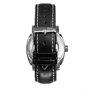 Reign Impaler Semi-Skeleton Leather-Band Watch -  White/Black - REIRN6102